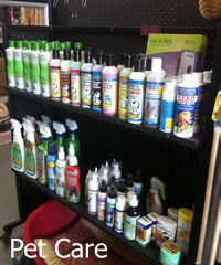 We carry a wide range of pet care products